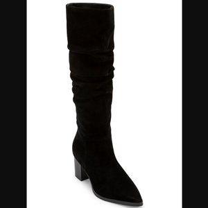 Blondo Tallis Slouch Black Suede Waterproof Boot